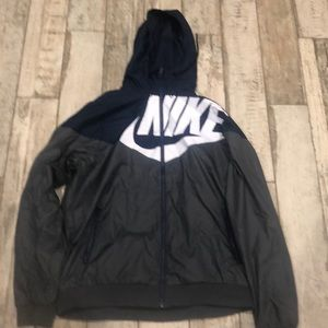 Nike The Windrunner size large blue gray hooded